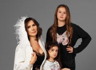 Анжела Юрку и дочери Илинка и Юстина в проекте FCODE