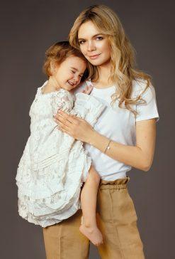 Мама Юлия Окульская и дочь Дарья в проекте FCODE Мамины Дочки