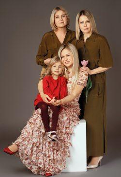 Тамара Унту, дочери Лучия и Оксана и внучка Оливия в проекте FCODE