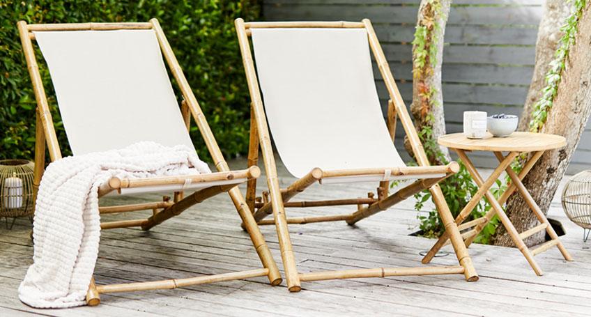jysk бамбуковая мебель для сада